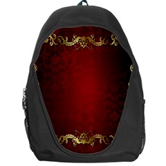 3d Red Abstract Pattern Backpack Bag