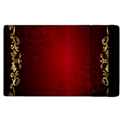 3d Red Abstract Pattern Apple iPad 2 Flip Case