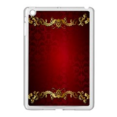 3d Red Abstract Pattern Apple iPad Mini Case (White)