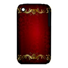 3d Red Abstract Pattern Iphone 3s/3gs