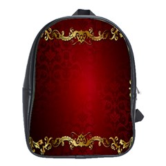 3d Red Abstract Pattern School Bags (XL)
