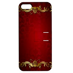 3d Red Abstract Pattern Apple iPhone 5 Hardshell Case with Stand