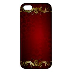 3d Red Abstract Pattern Apple iPhone 5 Premium Hardshell Case