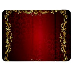 3d Red Abstract Pattern Samsung Galaxy Tab 7  P1000 Flip Case