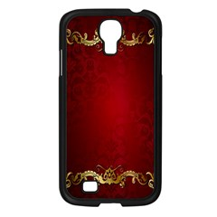3d Red Abstract Pattern Samsung Galaxy S4 I9500/ I9505 Case (Black)