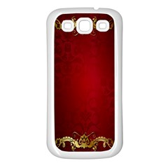 3d Red Abstract Pattern Samsung Galaxy S3 Back Case (White)