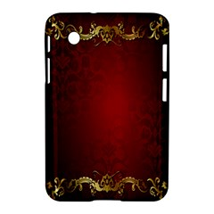 3d Red Abstract Pattern Samsung Galaxy Tab 2 (7 ) P3100 Hardshell Case