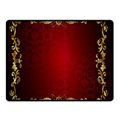 3d Red Abstract Pattern Double Sided Fleece Blanket (Small)