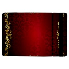 3d Red Abstract Pattern iPad Air Flip