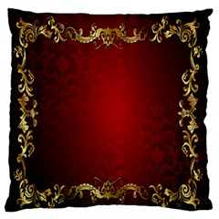 3d Red Abstract Pattern Large Flano Cushion Case (One Side)