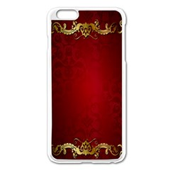 3d Red Abstract Pattern Apple iPhone 6 Plus/6S Plus Enamel White Case
