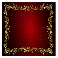 3d Red Abstract Pattern Large Satin Scarf (Square)