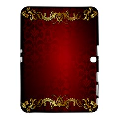 3d Red Abstract Pattern Samsung Galaxy Tab 4 (10.1 ) Hardshell Case