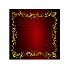 3d Red Abstract Pattern Small Satin Scarf (Square)