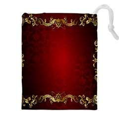 3d Red Abstract Pattern Drawstring Pouches (xxl)