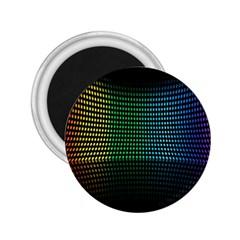 Abstract Multicolor Rainbows Circles 2 25  Magnets