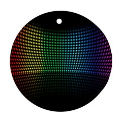 Abstract Multicolor Rainbows Circles Ornament (round)