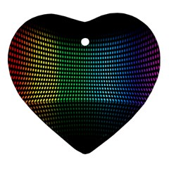 Abstract Multicolor Rainbows Circles Ornament (Heart)