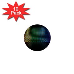 Abstract Multicolor Rainbows Circles 1  Mini Magnet (10 Pack)