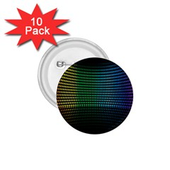 Abstract Multicolor Rainbows Circles 1 75  Buttons (10 Pack)
