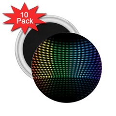 Abstract Multicolor Rainbows Circles 2.25  Magnets (10 pack)