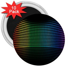 Abstract Multicolor Rainbows Circles 3  Magnets (10 Pack)