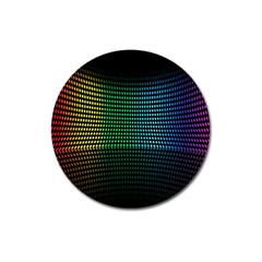Abstract Multicolor Rainbows Circles Magnet 3  (Round)