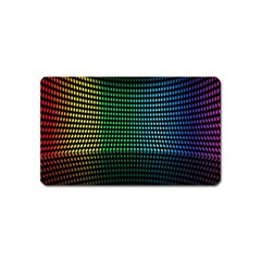 Abstract Multicolor Rainbows Circles Magnet (Name Card)