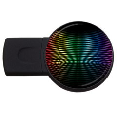 Abstract Multicolor Rainbows Circles USB Flash Drive Round (2 GB)