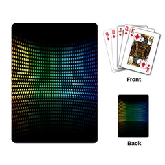 Abstract Multicolor Rainbows Circles Playing Card