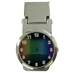 Abstract Multicolor Rainbows Circles Money Clip Watches
