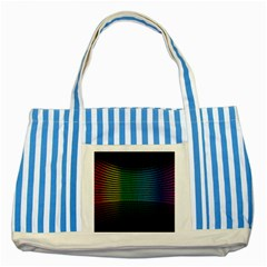 Abstract Multicolor Rainbows Circles Striped Blue Tote Bag