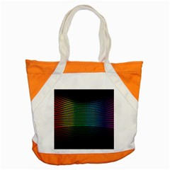 Abstract Multicolor Rainbows Circles Accent Tote Bag
