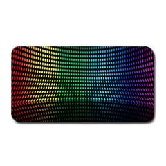 Abstract Multicolor Rainbows Circles Medium Bar Mats