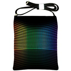 Abstract Multicolor Rainbows Circles Shoulder Sling Bags