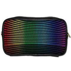 Abstract Multicolor Rainbows Circles Toiletries Bags 2 Side