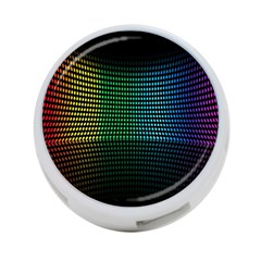 Abstract Multicolor Rainbows Circles 4 Port Usb Hub (one Side)