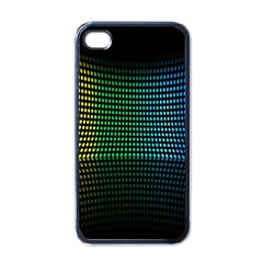 Abstract Multicolor Rainbows Circles Apple Iphone 4 Case (black)