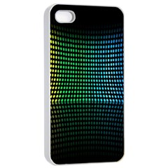 Abstract Multicolor Rainbows Circles Apple Iphone 4/4s Seamless Case (white)