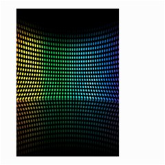 Abstract Multicolor Rainbows Circles Small Garden Flag (Two Sides)