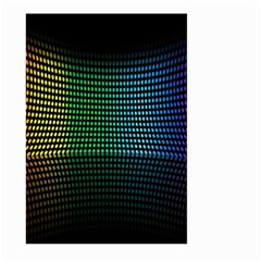 Abstract Multicolor Rainbows Circles Large Garden Flag (Two Sides)