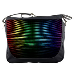Abstract Multicolor Rainbows Circles Messenger Bags
