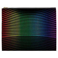 Abstract Multicolor Rainbows Circles Cosmetic Bag (XXXL)
