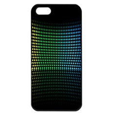 Abstract Multicolor Rainbows Circles Apple Iphone 5 Seamless Case (black)