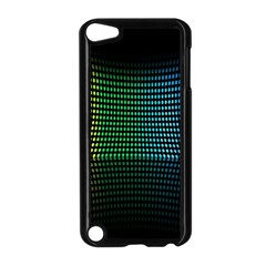 Abstract Multicolor Rainbows Circles Apple iPod Touch 5 Case (Black)