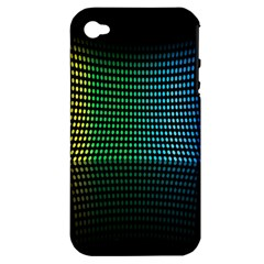 Abstract Multicolor Rainbows Circles Apple iPhone 4/4S Hardshell Case (PC+Silicone)