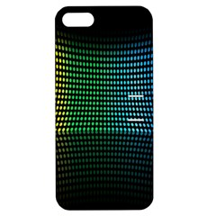 Abstract Multicolor Rainbows Circles Apple Iphone 5 Hardshell Case With Stand