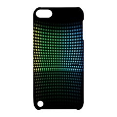 Abstract Multicolor Rainbows Circles Apple iPod Touch 5 Hardshell Case with Stand