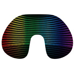 Abstract Multicolor Rainbows Circles Travel Neck Pillows