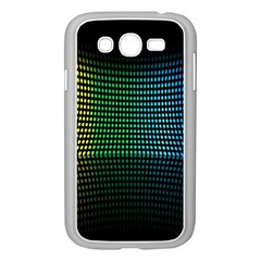 Abstract Multicolor Rainbows Circles Samsung Galaxy Grand DUOS I9082 Case (White)
